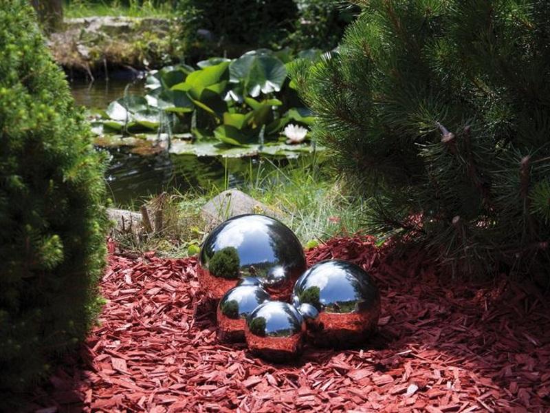 Hochwertige Schwimmkugeln aus Edelstahl - 4er Set wetterbeständig - poliert