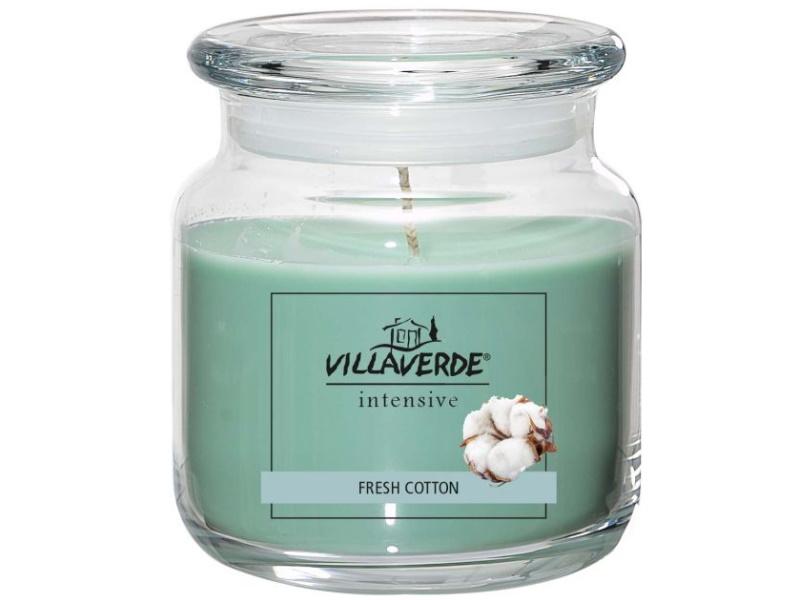Große Duftkerze im Glas mit Deckel Winterdüfte- ergiebig wirksam anhaltend Duftend - schöne Dekoration! (FRESH COTTON)