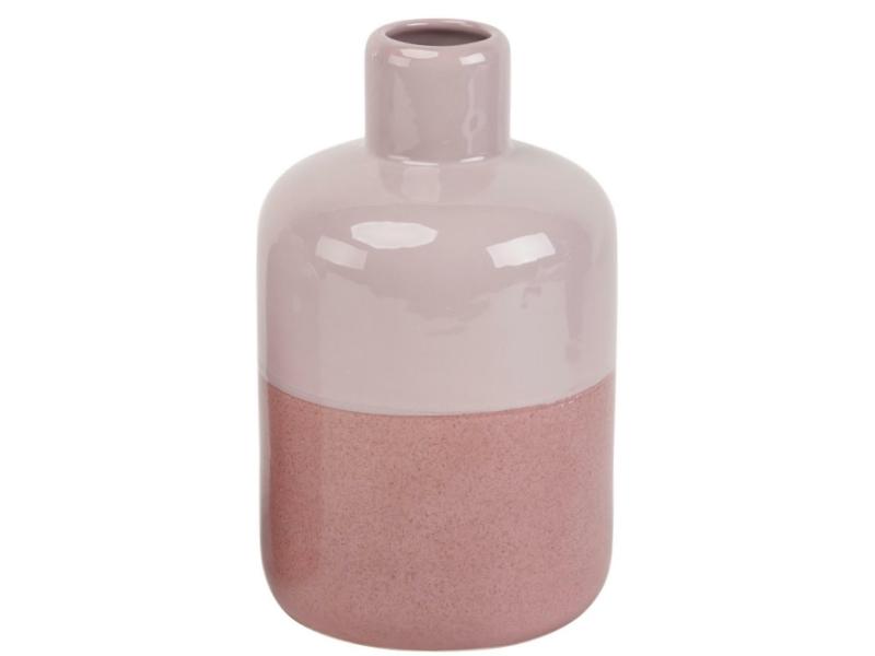 "Flasche ""Timito"" aus Keramik (rosa altrosa) – Flaschenvase Blumenvase Dekoflasche - Ø 13,3cm x Höhe 18,1cm"