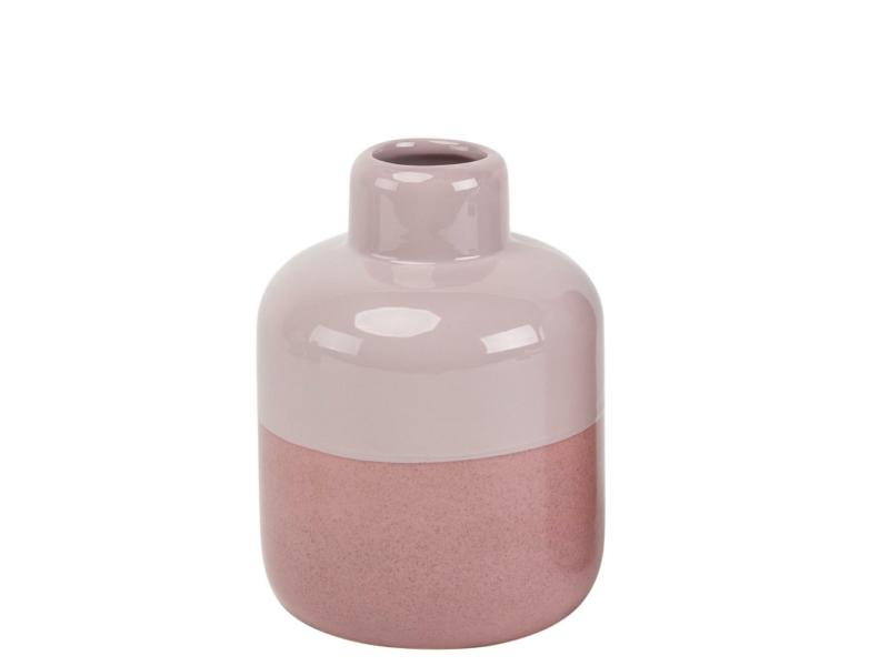 "Flasche ""Timito"" aus Keramik (rosa altrosa) – Flaschenvase Blumenvase Dekoflasche - Ø 14,2cm x Höhe 23,3cm"