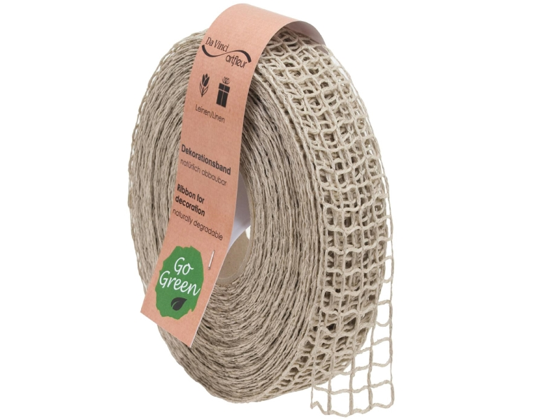 "20m Juteband ""Nature Basic"" Dekoband Bastelband Schmuckband - Breite 40 mm (natur)"