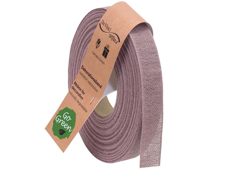 "20m Juteband ""Nature Basic"" Dekoband Bastelband Schmuckband - Breite 25 mm (altrosa)"
