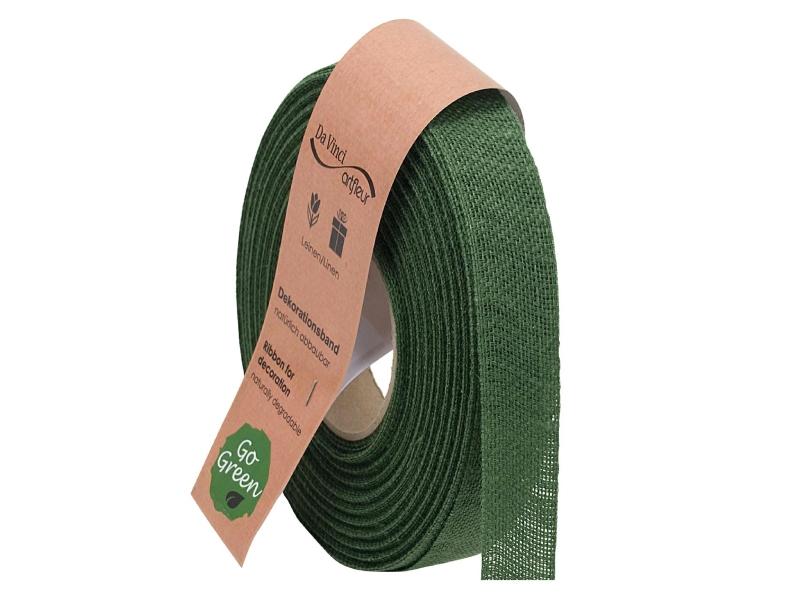 "20m Juteband ""Nature Basic"" Dekoband Bastelband Schmuckband - Breite 25 mm (gruen)"