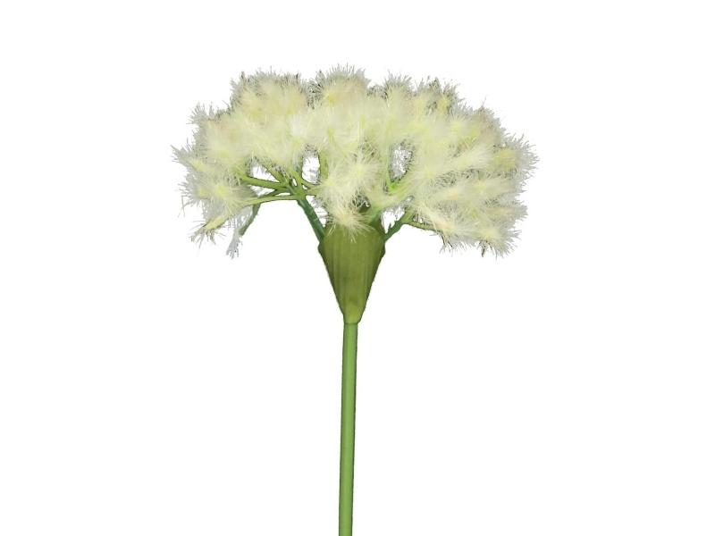 5 Löwenzahn Shani (weiss) – Kunstblumen mit je 1 Blüte am Stiel – Gesamthoehe 53cm