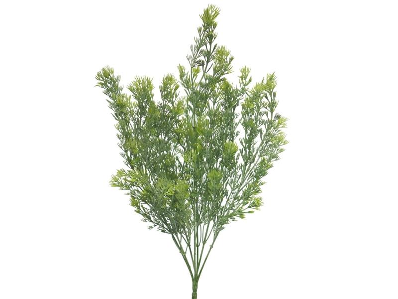 Achillea Busch (grün) – Kunstpflanze mit Ästen und Blätter am Stiel – Gesamthoehe 72cm