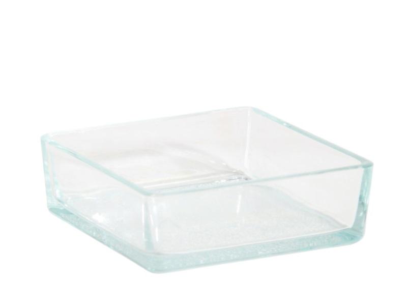 Glasschale Dekoschale STEEN (Breite 11 cm - Tiefe 11 cm - Höhe 4 cm)