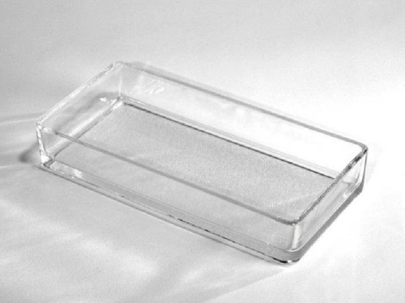 Glasschale Dekoschale STEEN (Breite 21 cm - Tiefe 11 cm - Höhe 4 cm)