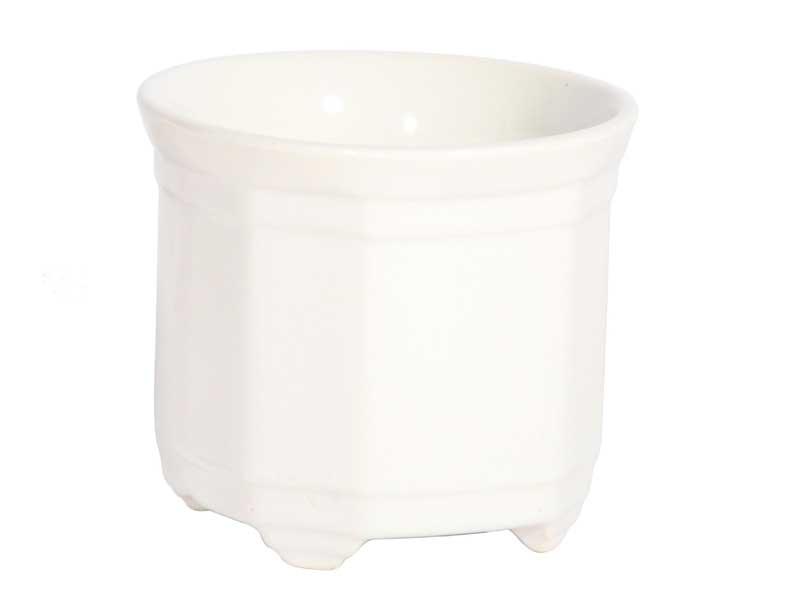 3 Mini-Töpfe aus Kunststoff in Weiß - Ø 7cm oder Ø 8cm (Ø 8 cm x Höhe 8 cm)