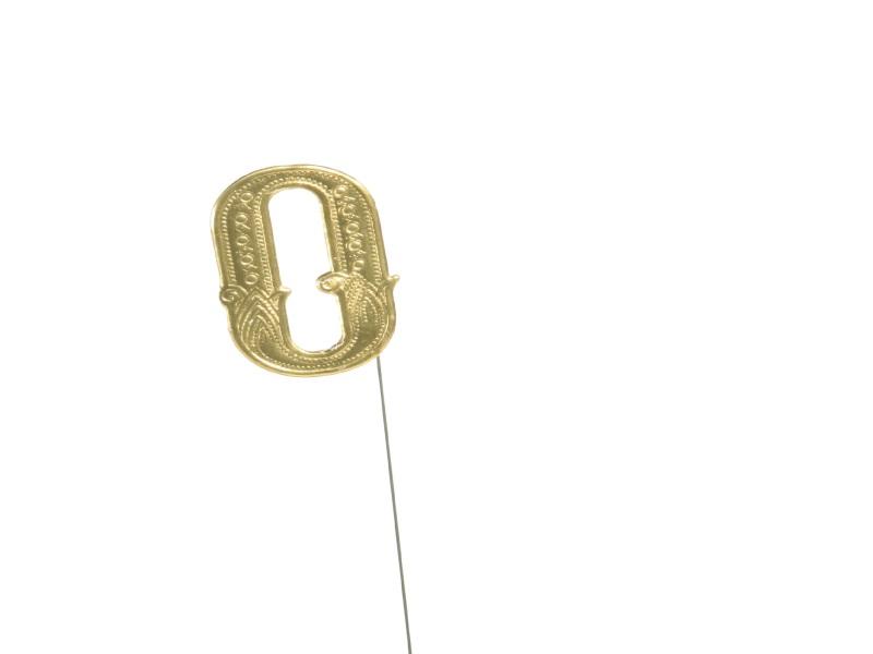 Jubelzahlen - Zahlen zum Stecken an Draht  in Gold - Höhe 6,5cm - Zahl  0