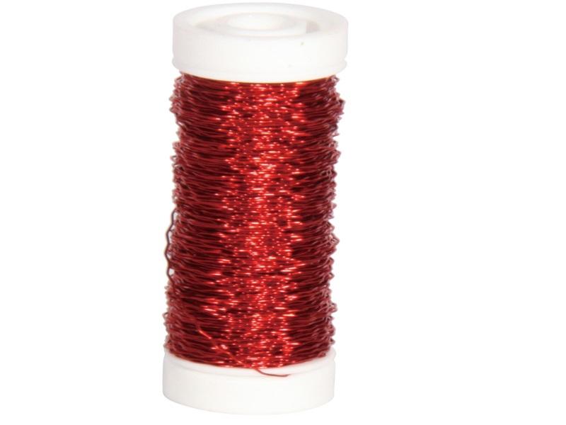 """Bouillondraht """"EFFEKT"""" 25 g -   Farbe Rot"""