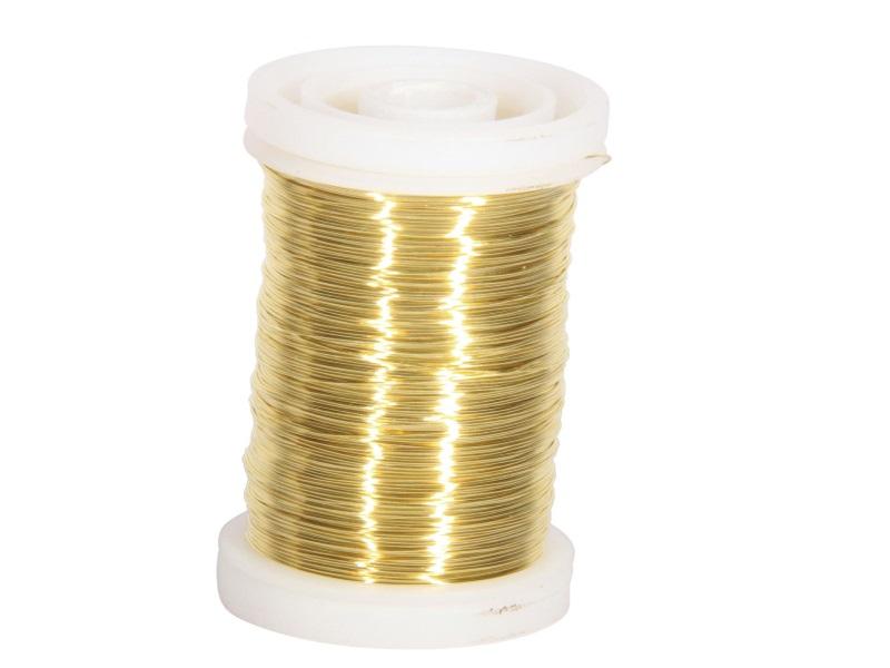 Mythendraht Basteldraht 100 g,  Farbe Gold