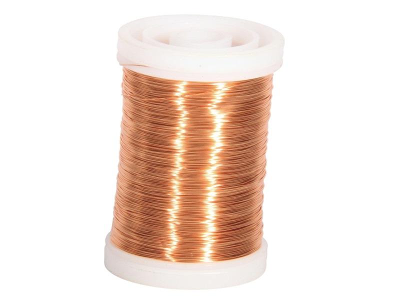 Mythendraht Basteldraht 100 g,  Farbe Kupfer