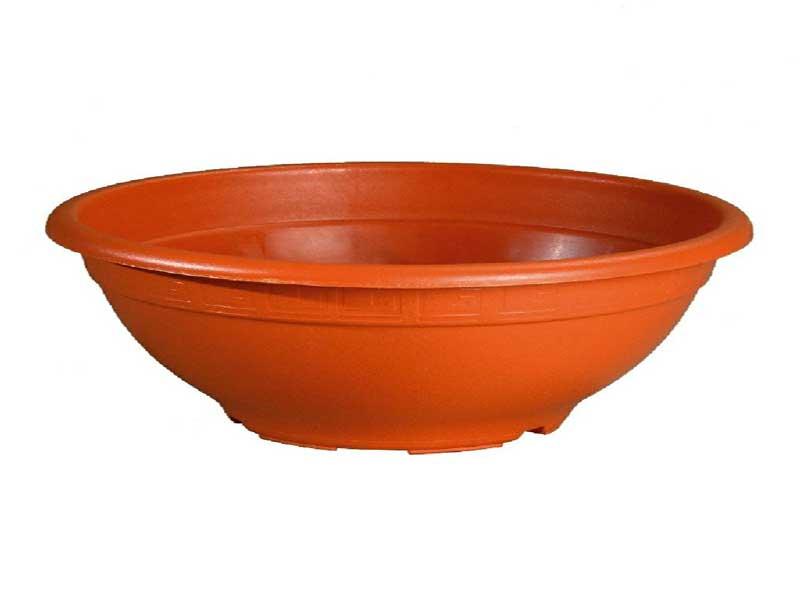 """Pflanzenschale """"BOWL"""" aus Kunststoff - Farbe Terracotta Ø 25 cm"""