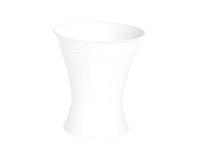 Gebrauchsvase Weiß - Verkaufshilfe für Blumen und Sträuße aus Kunststoff H21/Ø18cm