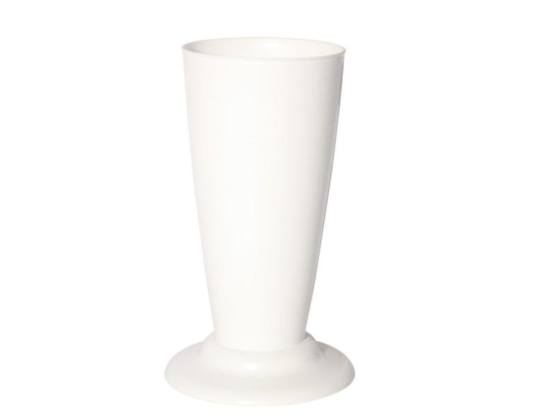 Gebrauchsvase auf Fuß Weiß-Verkaufshilfe für Blumen und Sträuße aus Kunststoff H30cm