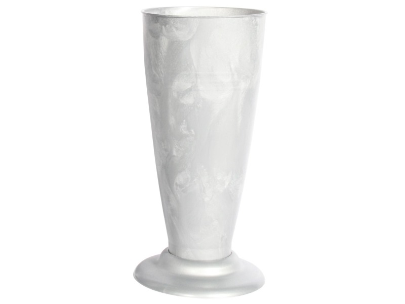 Gebrauchsvase auf Fuß Zink-Verkaufshilfe für Blumen und Sträuße aus Kunststoff H30cm