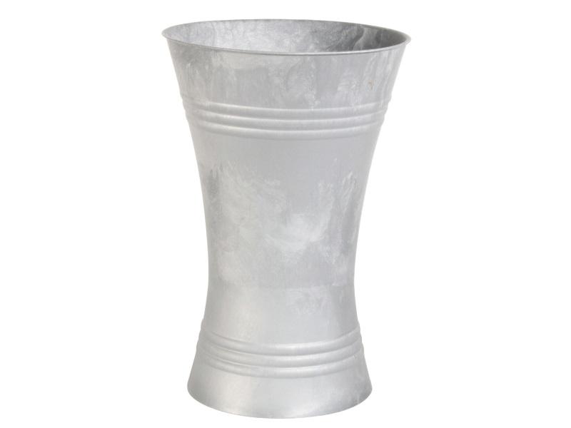 Gebrauchsvase Zink - Verkaufshilfe für Blumen und Sträuße aus Kunststoff H35cm