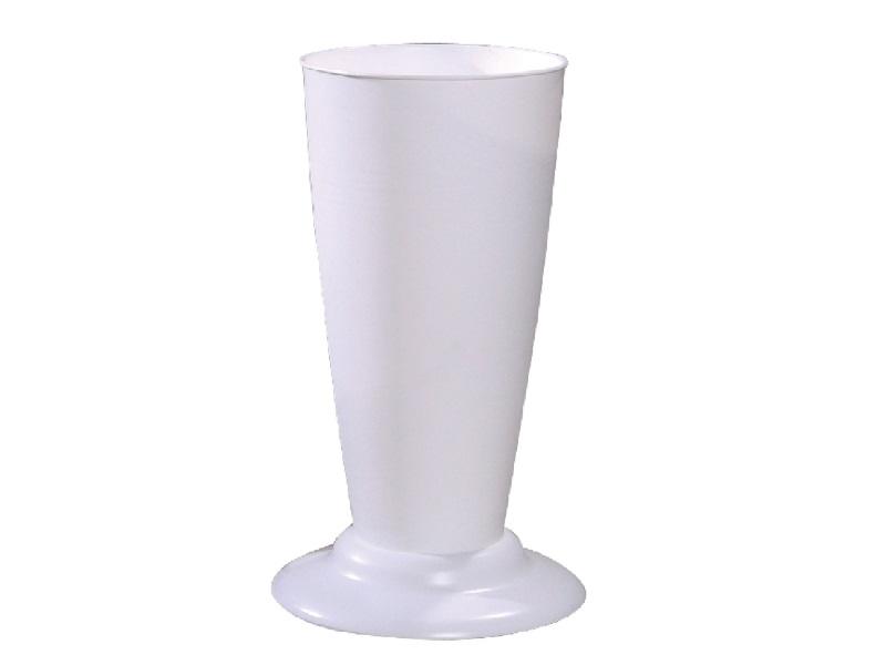 Gebrauchsvase auf Fuß Weiß-Verkaufshilfe für Blumen und Sträuße aus Kunststoff H41cm
