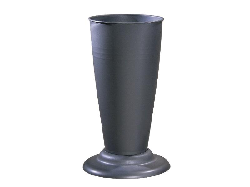 Gebrauchsvase auf Fuß Zink-Verkaufshilfe für Blumen und Sträuße aus Kunststoff H41cm