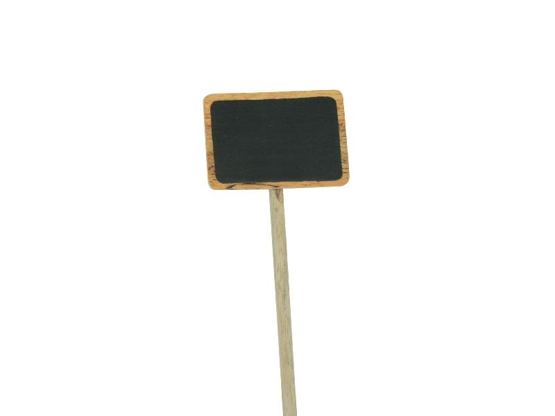 5 Steckschilder aus Holz zur Beschriftung Breite 7 cm x Höhe 5 cm)
