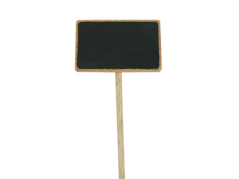 5 Steckschilder aus Holz zur Beschriftung Breite 10 cm x Höhe 6,5 cm)