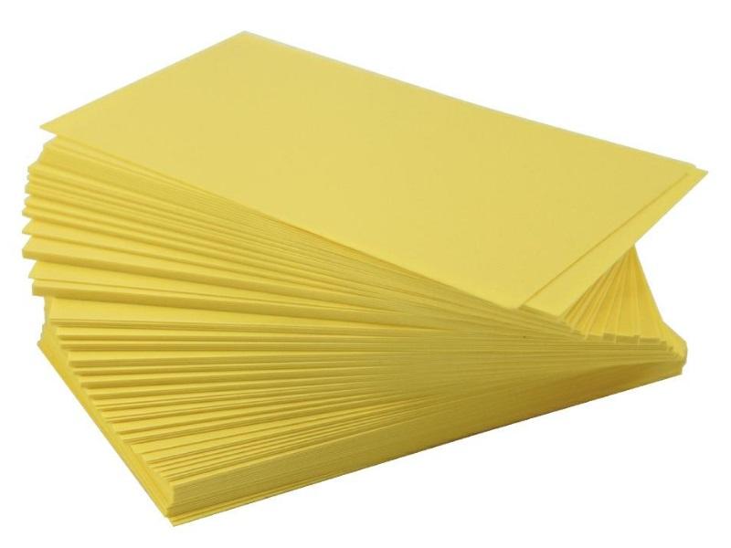 10 Wechselschilder Steckschilder Pflanzenschilder aus Kunststoff 10 Ersatzschilder 120x75mm - Gelb