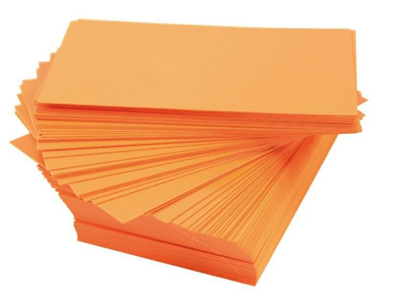 10 Wechselschilder Steckschilder Pflanzenschilder aus Kunststoff 10 Ersatzschilder 120x75mm - Orange