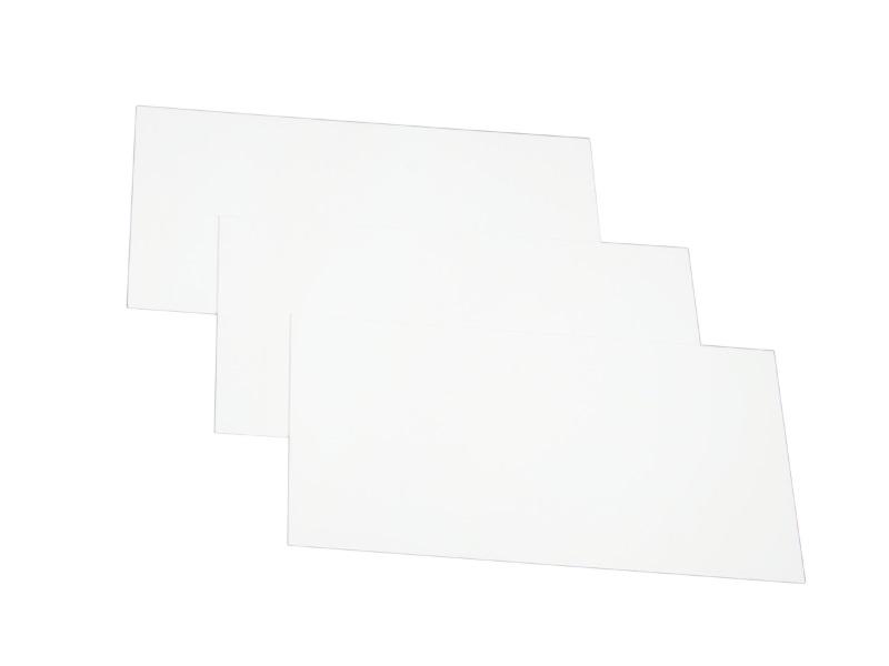 10 Wechselschilder Steckschilder Pflanzenschilder aus Kunststoff - 10 Ersatzschilder 80x48mm - Weiß