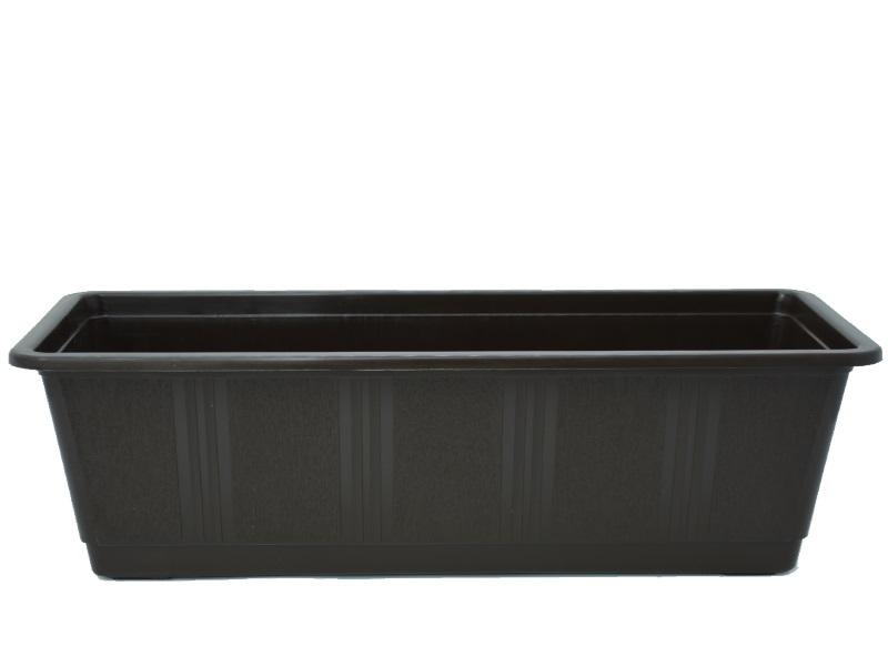 """Blumenkasten """"STANDARD"""" aus Kunststoff - Breite 40 cm, Farbe Braun"""