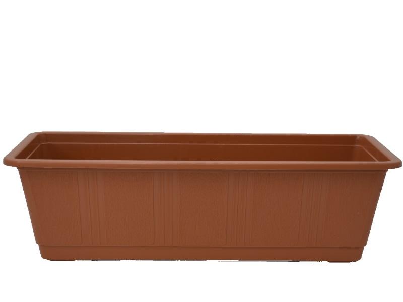 """Blumenkasten """"STANDARD"""" aus Kunststoff - Breite 50 cm, Farbe Terracotta"""