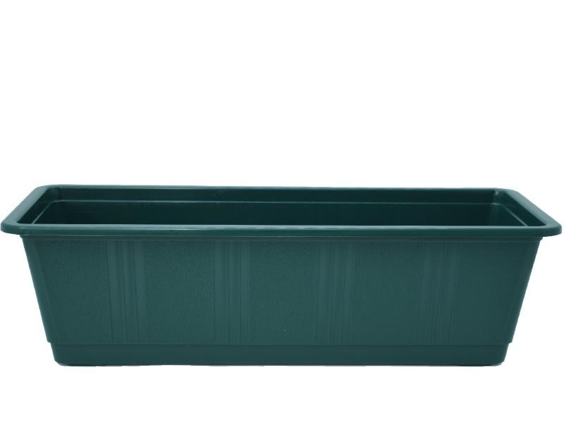 """Blumenkasten """"STANDARD"""" aus Kunststoff - Breite 40 cm, Farbe Dunkelgrün"""