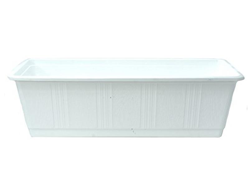 """Blumenkasten """"STANDARD"""" aus Kunststoff - Breite 60 cm, Farbe Weiss"""