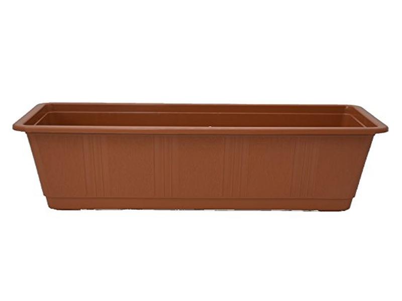 """Blumenkasten """"STANDARD"""" aus Kunststoff - Breite 80 cm, Farbe Terracotta"""