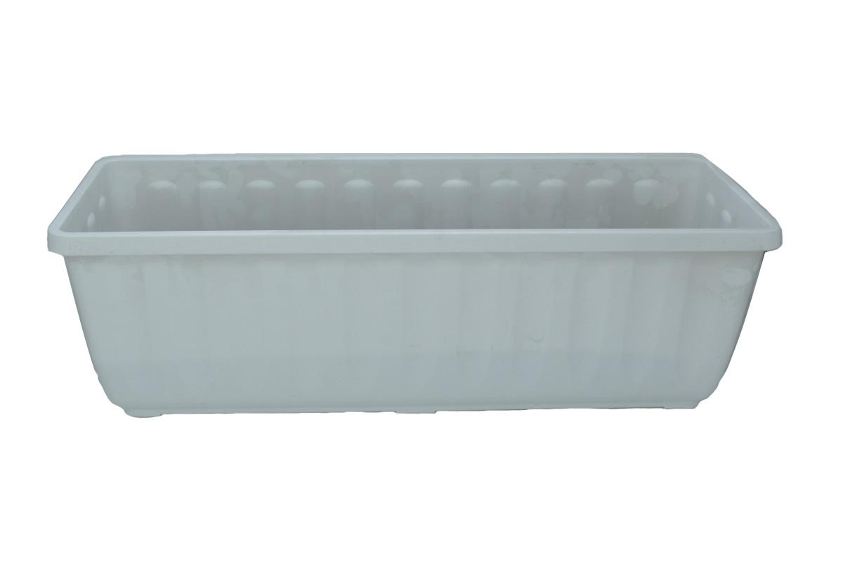 """Blumenkasten """"AQUA-FLOR PLUS"""" aus Kunststoff - Breite 80 cm, Farbe Weiss"""