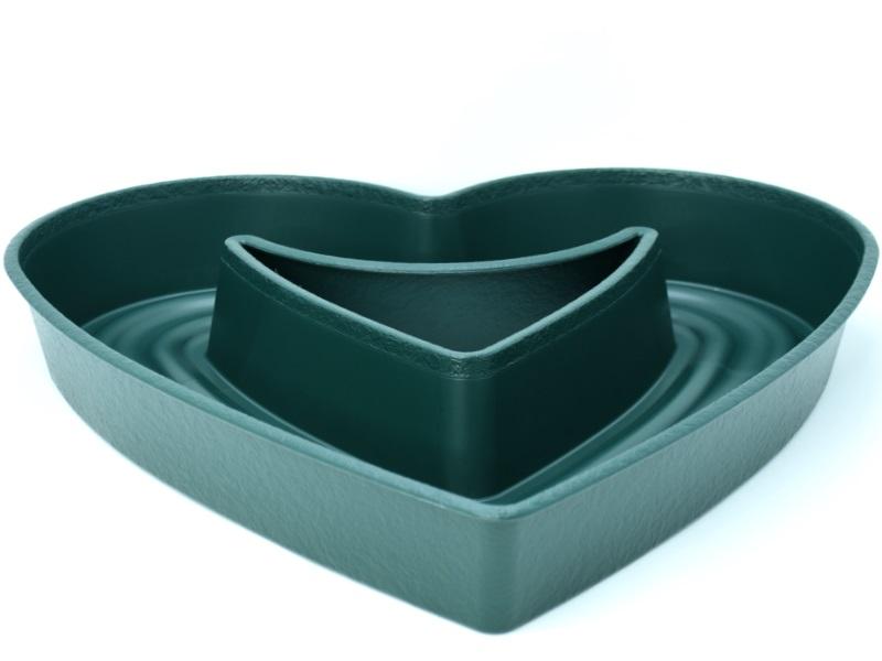 """Pflanzenherz """"AMORA"""" in Grün aus Kunststoff Ø 45 cm"""