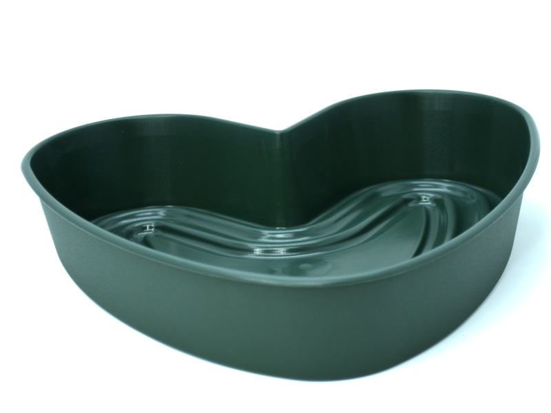 """Pflanzenherz """"AMORA"""" in Grün aus Kunststoff Ø 36 cm"""