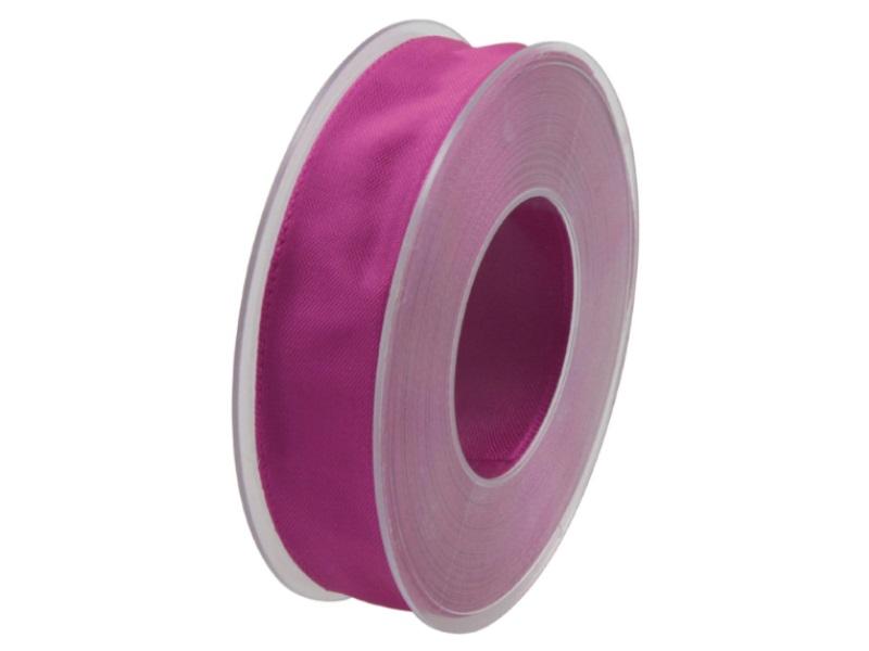 Dekoband mit Draht - Satinband Geschenkband - 25 mm x 25 m Pink