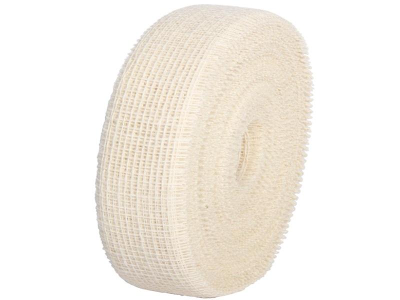 Juteband  - Bastelbedarf 40 m x 50 mm, Farbe Farbe  Creme, Juteband gewebt