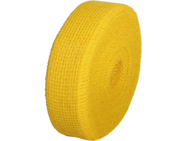Juteband  - Bastelbedarf 40 m x 50 mm, Farbe Farbe  Gelb, Juteband gewebt