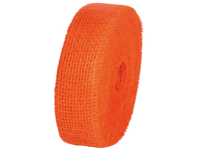 Juteband  - Bastelbedarf 40 m x 50 mm, Farbe Farbe  Orange, Juteband gewebt