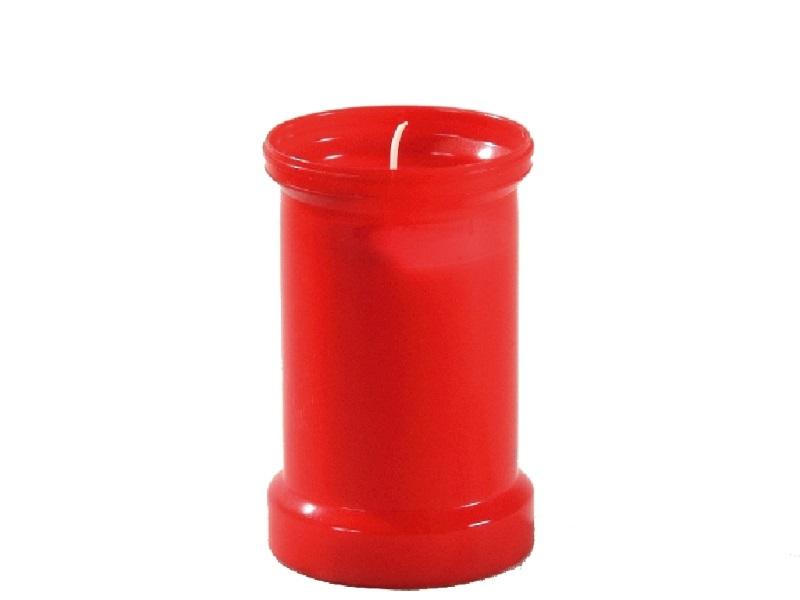 6 Grabkerzen Grablichter Rot ohne Deckel Brenndauer ca. 72 Std.