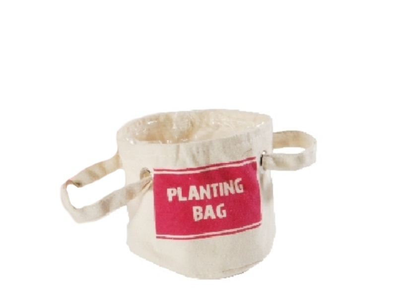 Kräuter-Beutel Planting Bag PINK 14x14cm