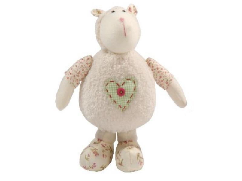Schaf aus Stoff stehend CREME 18x13x24cm