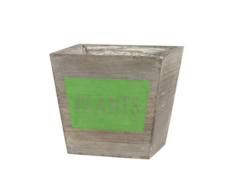 Kübel Topf Pflanzgefäß aus Holz Plants GRÜN 18x18x16cm