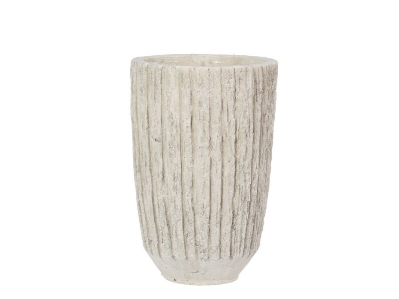 Blumenvase Vase Kariso CREME 16,5x25cm