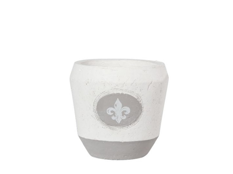 Kübel Topf Pflanzgefäß Laira Keramik GRAU WEISS 14x13cm
