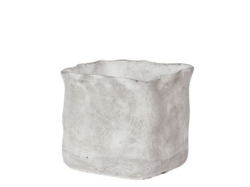 Kübel Topf Pflanzgefäß Rami Zement GRAU 13x,5x13cm