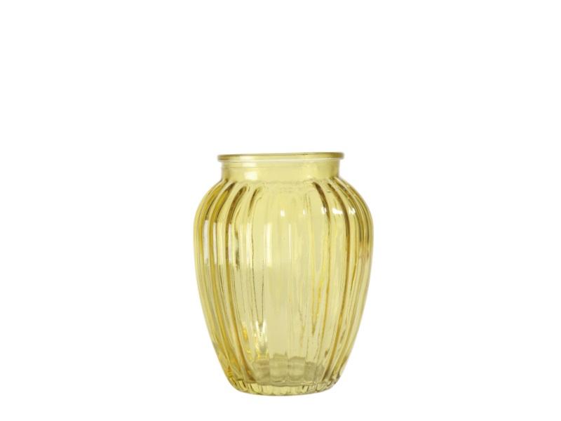Glas Vase mini GELB 8x10cm