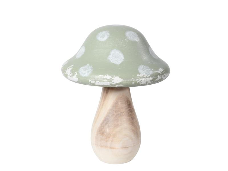 Pilz aus Holz Shabby GRÜN 14x18cm