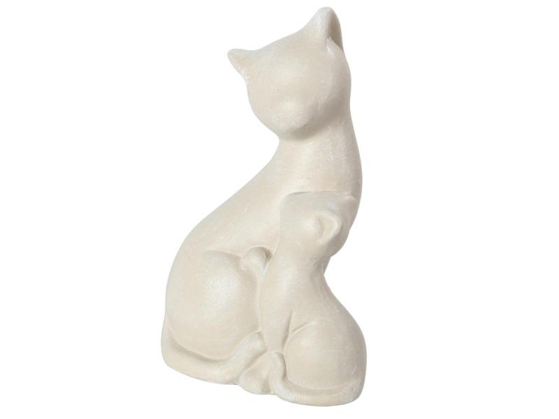 Katze Keramik stehend CREME 7,3x4,4x11,2cm